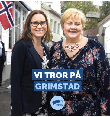 Statsminister Erna Solberg og meg