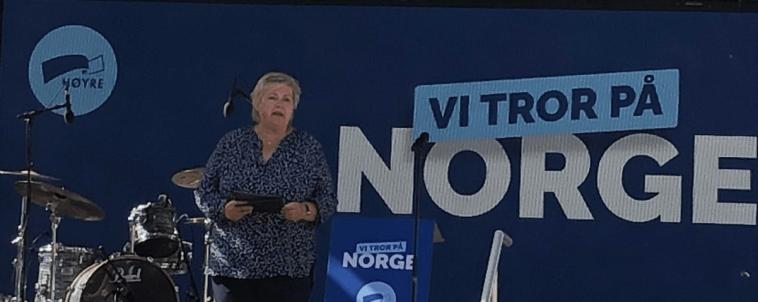 Erna på Høyres partitime